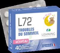 Lehning L72 Comprimés Orodispersibles Plq Pvc/pvdc/alu/40 à VILLERS-LE-LAC