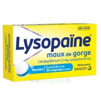 LysopaÏne Comprimés à Sucer Maux De Gorge Sans Sucre 2t/18 à VILLERS-LE-LAC