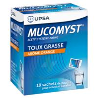 MUCOMYST 200 mg Poudre pour solution buvable en sachet B/18 à VILLERS-LE-LAC