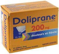 Doliprane 200 Mg Poudre Pour Solution Buvable En Sachet-dose B/12 à VILLERS-LE-LAC