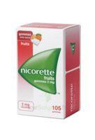 Nicorette 2 Mg Gomme à Mâcher Médicamenteuse Sans Sucre Fruits Plq/105 à VILLERS-LE-LAC