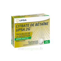 Citrate De Bétaïne Upsa 2 G Comprimés Effervescents Sans Sucre Menthe édulcoré à La Saccharine Sodique T/20 à VILLERS-LE-LAC