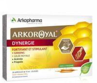 Arkoroyal Dynergie Ginseng Gelée Royale Propolis Solution Buvable 20 Ampoules/10ml à VILLERS-LE-LAC