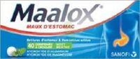 MAALOX HYDROXYDE D'ALUMINIUM/HYDROXYDE DE MAGNESIUM 400 mg/400 mg Cpr à croquer maux d'estomac Plq/40 à VILLERS-LE-LAC