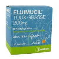 FLUIMUCIL EXPECTORANT ACETYLCYSTEINE 200 mg SANS SUCRE, granulés pour solution buvable en sachet édulcorés à l'aspartam et au sorbitol à VILLERS-LE-LAC