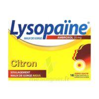 LysopaÏne Ambroxol 20 Mg Pastilles Maux De Gorge Sans Sucre Citron Plq/18 à VILLERS-LE-LAC