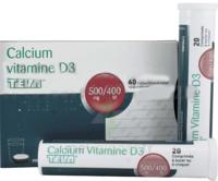 Calcium Vitamine D3 Teva 500 Mg/400 Ui, Comprimé à Sucer Ou à Croquer à VILLERS-LE-LAC