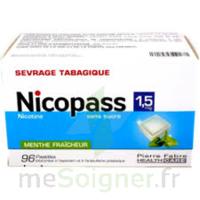 Nicopass 1,5 Mg Pastille Sans Sucre Menthe Fraîcheur Plq/96 à VILLERS-LE-LAC