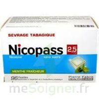 Nicopass 2,5 Mg Pastille Menthe Fraîcheur Sans Sucre Plq/96 à VILLERS-LE-LAC