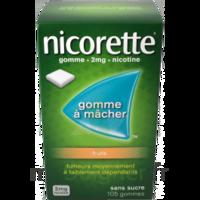 Nicorette 2 mg Gomme à mâcher médicamenteuse sans sucre fruits Plq/30 à VILLERS-LE-LAC