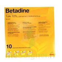 Betadine Tulle 10 % Pans Méd 10x10cm 10sach/1 à VILLERS-LE-LAC