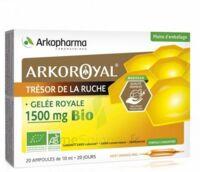 Arkoroyal Gelée Royale Bio 1500 Mg Solution Buvable 20 Ampoules/10ml à VILLERS-LE-LAC