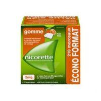 Nicorette 2 mg Gomme à mâcher médicamenteuse sans sucre fruits Plq/210 à VILLERS-LE-LAC