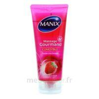 Manix Gel comestible de massage fraise 200ml à VILLERS-LE-LAC