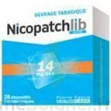 NICOPATCHLIB 14 mg/24 h Dispositifs transdermiques B/28 à VILLERS-LE-LAC