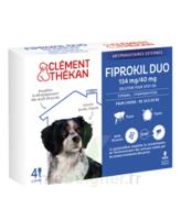 Fiprokil Duo 134mg/40mg Solution Pour Spot-on Chiens Moyens 10-20kg 4 Pipette/1,34ml à VILLERS-LE-LAC