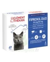 Fiprokil Duo 50mg/60mg Solution Pour Spot-on Chat Moins De 4kg 4 Pipettes/0,5ml à VILLERS-LE-LAC