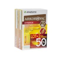 Arkoroyal Dynergie Ginseng Gelée royale Propolis Solution buvable 2B/20 Ampoules/10ml