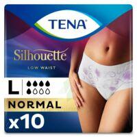 Tena Lady Silhouette Slip Absorbant Blanc Normal Large Paquet/10 à VILLERS-LE-LAC